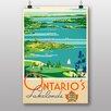 Big Box Art Poster Vintage Ontarios Lakelands, Retro-Werbung