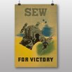 Big Box Art Poster Sew for Victory, Retro-Werbung