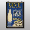 Big Box Art Poster Milk Fund, Retro-Werbung