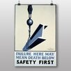 Big Box Art Poster Safety First, Retro-Werbung