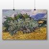 Big Box Art Poster Weizenfeld mit Zypressen Nr.2 von Vincent Van Gogh, Kunstdruck