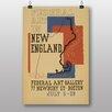 Big Box Art Poster New England, Retro-Werbung