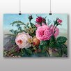 Big Box Art Vintage Floral Flowers Art Print on Canvas