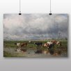 Big Box Art 'Cows' by Willem Roelofs Art Print
