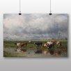 Big Box Art Poster Cows von Willem Roelofs, Kunstdruck