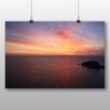 "Big Box Art Poster ""Sonnenuntergang über dem Meer Nr. 2"", Fotodruck"