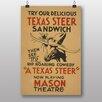 Big Box Art Texas Steer Sandwich Vintage Advertisement
