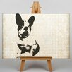 Big Box Art Leinwandbild Boston Terrier, Grafikdruck