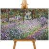 Big Box Art Leinwandbild Blühende Iris in Monets Garten Kunstdruck von Claude Monet