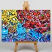 Big Box Art Graffiti No.9 Graphic Art Wrapped on Canvas