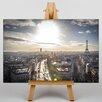 Big Box Art Paris Sunlight Photographic Print on Canvas