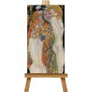 Big Box Art Water by Gustav Klimt Art Print on Canvas