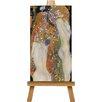 Big Box Art Leinwandbild Wasserschlangen II Kunstdruck von Gustav Klimt