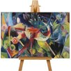 Big Box Art Deer in the Flower Garden by Franz Marc Art Print on Canvas