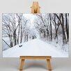 Big Box Art Leinwandbild Winter Road, Fotodruck