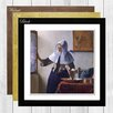 Big Box Art Woman with a Water Jug by Johannes Vermeer Framed Painting Print