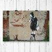 Big Box Art Girl & Rat Graffiti by Banksy Painting Print