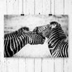 Big Box Art Two Zebras Photographic Print