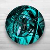 Big Box Art 32cm Blue Abstract Art 19 Wall Clock