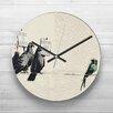 Big Box Art Banksy Birds Graffiti Wall Art Wall Clock