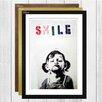 Big Box Art 'Smile Graffiti' by Banksy Framed Painting Print