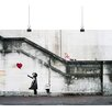 "Big Box Art ""Girl with Balloon Graffiti No.2"" by Banksy Art Print"