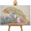 Big Box Art Leinwandbild Bunter Baum Kunstdruck von Paul Signac