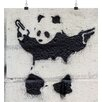 "Big Box Art ""Banksy Panda Guns Graffiti"", Kunstdruck"
