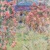 Big Box Art Rose House by Claude Monet Art Print on Canvas