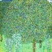 Big Box Art Rose Bushes under the Trees by Gustav Klimt Art Print on Canvas
