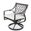 Castellano by Ancient Mosaic Studios Catalina Rocking Swivel Dining Arm Chair with Cushion