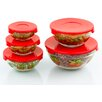 Imperial Home 10-Piece Stackable Glass Storage Bowl Set