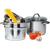 Imperial Home 4 Piece 8-qt. Pasta Cooker Set with Lid