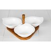 Imperial Home 4 Piece Porcelain Serving Tray Set