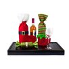 Imperial Home 2 Piece Holiday Wine Gift Bag Set