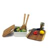 Imperial Home 4 Piece Porcelain Bamboo Square Bowl Set