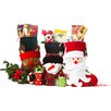 """Imperial Home 3 Piece 18"""" Cute Santa's 3D Toy Stocking Set"""