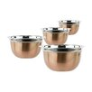 Imperial Home 4 Piece Stainless Steel Mixing Bowl Set