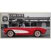 ERGO-PAUL Kunstdruck 1961 Chevrolet Corvette, Club Café, Route 66 - 51 x 101 cm
