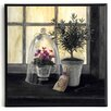 ERGO-PAUL Kunstdruck Lavendel Gartenfenster - 31 x 31 cm