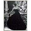 ERGO-PAUL Black Evening Dress, Roma 1952 Framed Painting Print