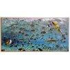 ERGO-PAUL Gerahmtes Kunstdruck Schwarzspitzenhaie und tropische Fische in Lagune