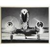 ERGO-PAUL Kunstdruck Vorderansicht eines Passagierflugzeugs - 61 x 81 cm