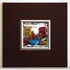 ERGO-PAUL Gerahmter Kunstdruck Feuerwehr New York - 40 x 40 cm