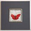 ERGO-PAUL Gerahmter Kunstdruck Roter Schmetterling I - 40 x 40 cm