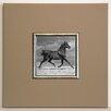 ERGO-PAUL Gerahmter Kunstdruck Schwarzes Pferd - 40 x 40 cm