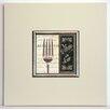 ERGO-PAUL Gerahmter Kunstdruck Französisches Menü II - 40 x 40 cm