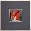 ERGO-PAUL Gerahmter Kunstdruck Love Philly - 40 x 40 cm