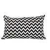 Meridian Furniture USA Delano Décor Chevron Flannel Cotton Lumbar Pillow