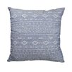 Meridian Furniture USA Delano Décor Navajo Chambray Jacquard Cotton Throw Pillow